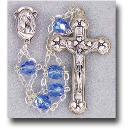 Sapphire Jacob's Ladder Crystal Rosary