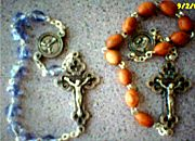 NEW! One Decade Hand Rosary, wood