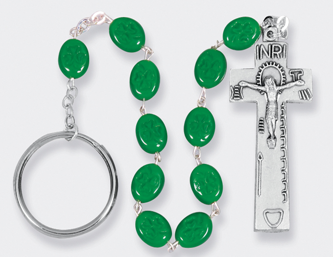 Irish Shamrock Single Decade rosary