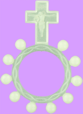 Glow in the Dark Plastic rosary ring