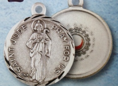 Very Large St. Jude relic medal