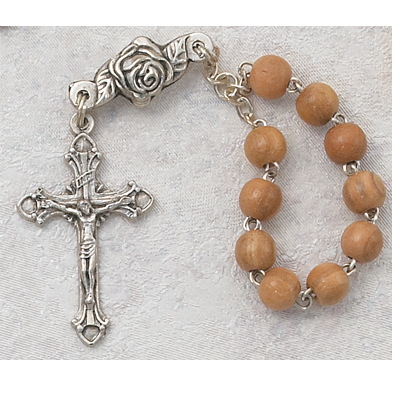 SIngle Decade Light Wood Rosary