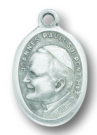 Pope John Paul with Our Lady medal - buy 1 get 1 free