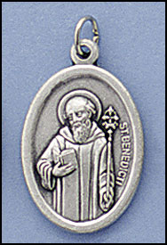 St. Benedict's Oxidized medal
