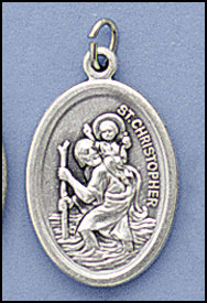 Oxidized Patron Saint Medals, Christopher