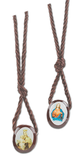 Sacred Immaculate Heart Wood Pendant
