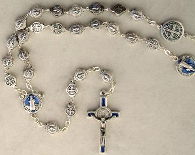St. Benedict silver medal rosary