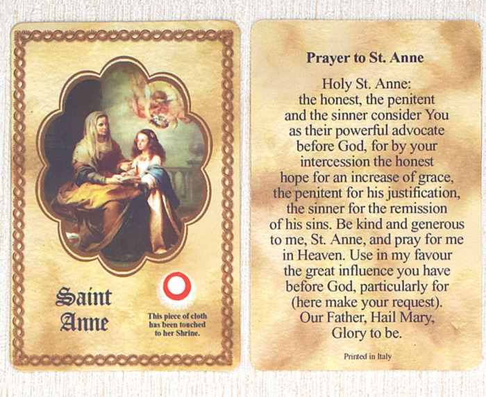 St. Anne Relic card