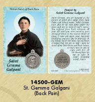 St. Gemma card and Medal