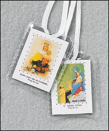 Brown Scapular on White String Laminated Buy 1 Get 1 Free (limit 2 per order!)
