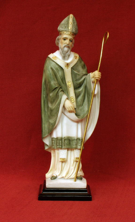 St. Patrick Alabaster Statue from Italy