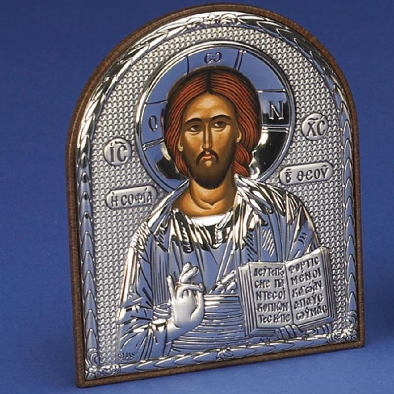 Christ The Teacher Sterling Silver Greek Icon