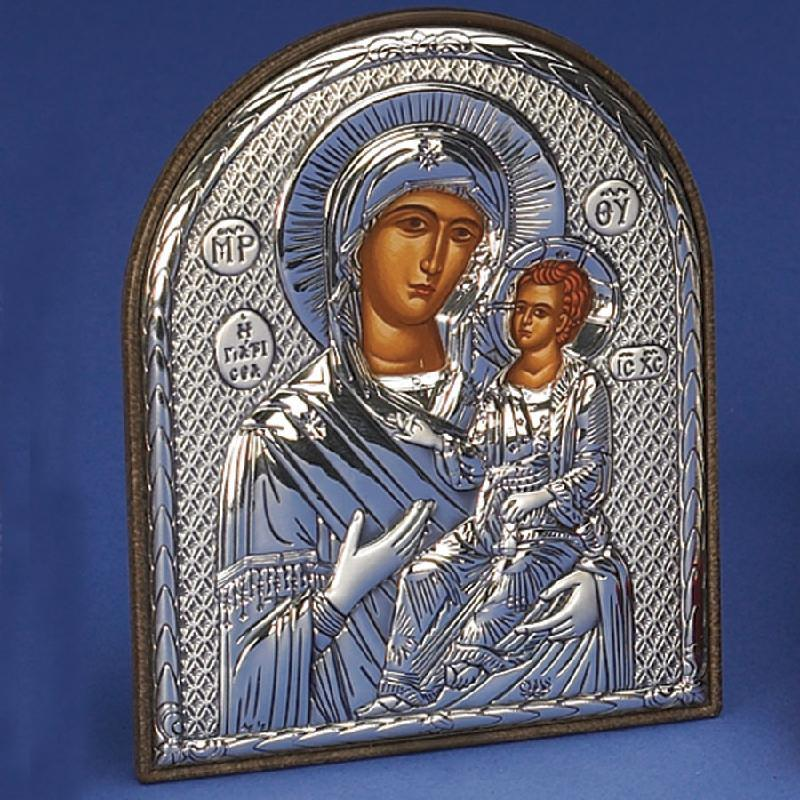 Mary Amolintos Sterling Silver Greek Icon