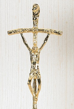 Large Gold Papal Crucifix of Pope John Paul