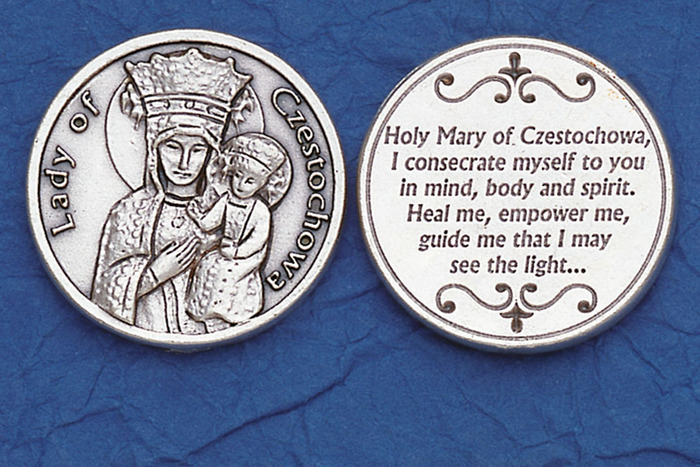 LADY OF CZESTOCHOWA pocket coin