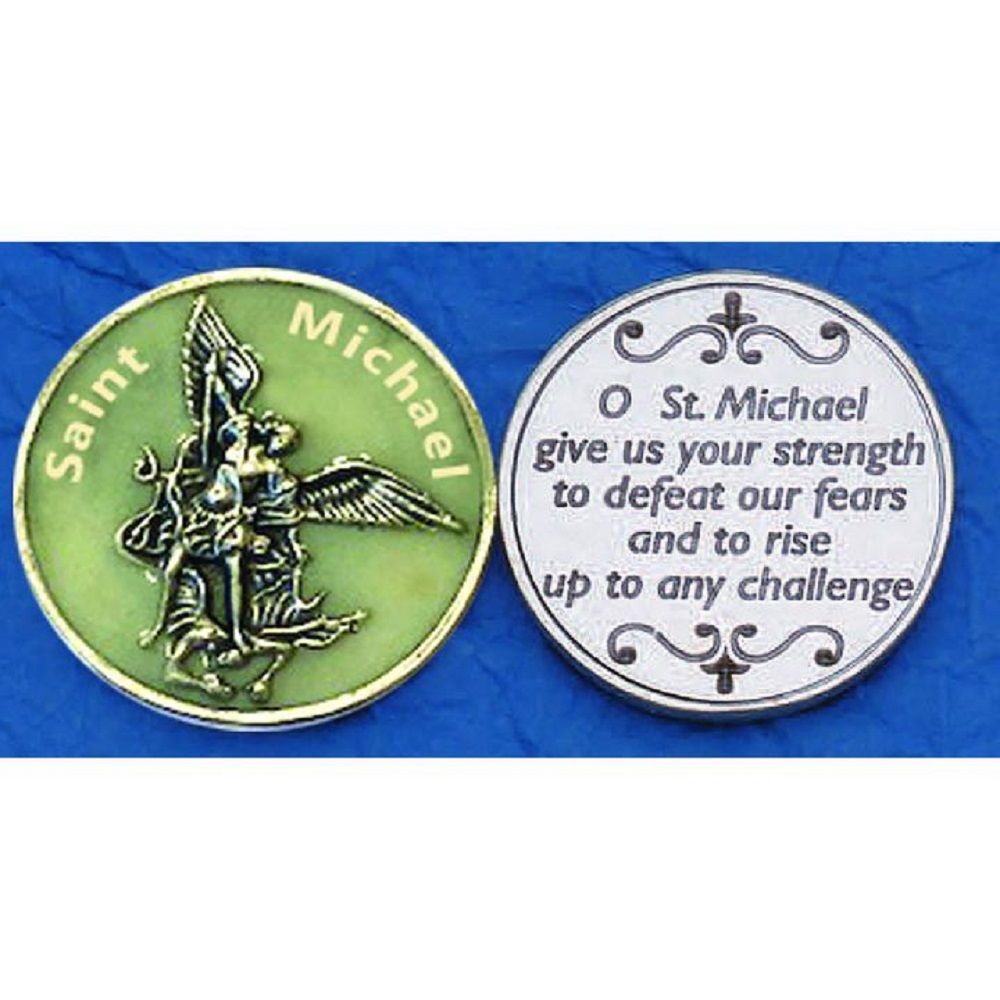 St. Michael glowing coin