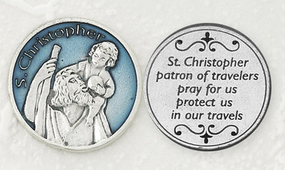 St. Christopher Enamel Pocket Coin