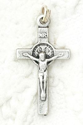 Tiny Crucifix St. Benedict Medal charm