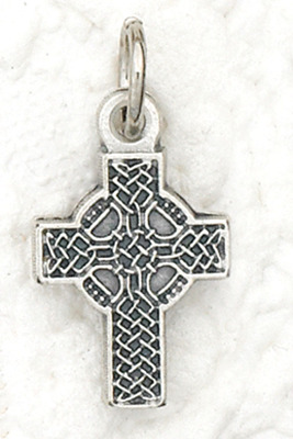 Celtic cross tiny medal