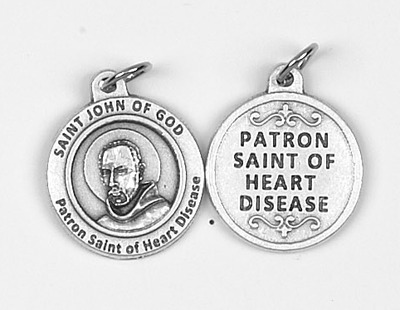 St. John of God round Medal