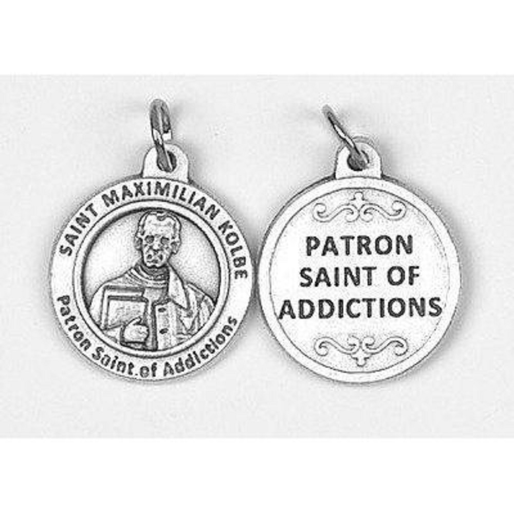 St. Max Kolbe Round Healing Saint Medal For Addictions