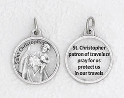 St. Christopher Round Patron Saint for Travelers medal