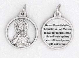 Immaculate Heart of Mary round medal