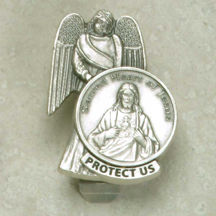 Sacred Heart and Angel Visor clip