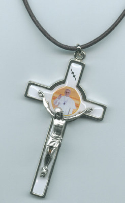 POPE FRANCIS 3 INCH CRUCIFIX WITH CORD