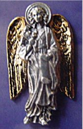 Two Tone Gold ArchAngel Pins, Raphael the Archangel