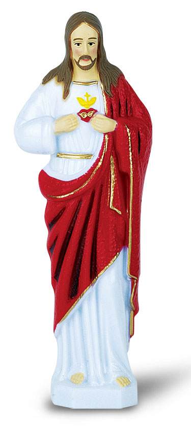 Six Inch Color Sacred Heart Statue