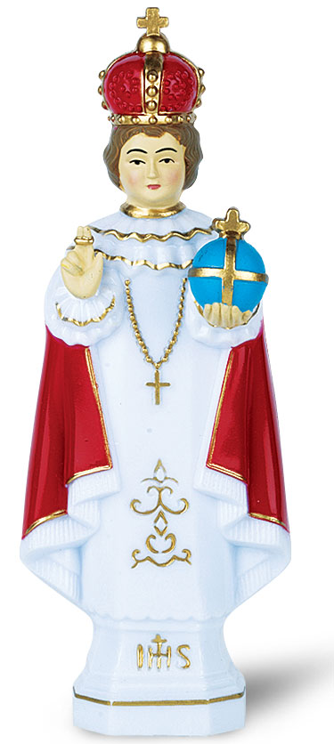 Large Infant of Prague full color statue