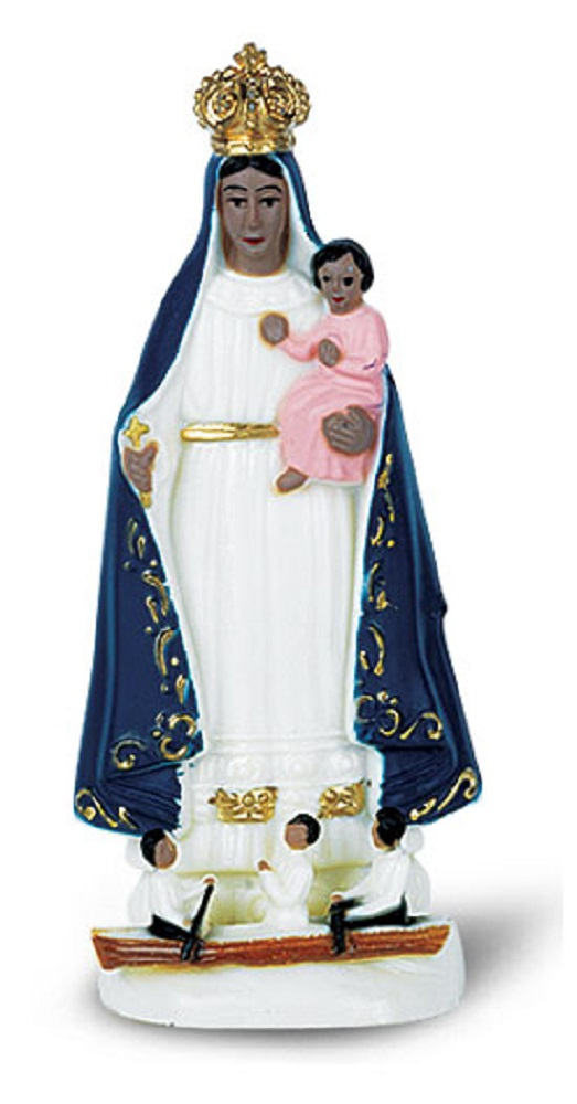 Our Lady of Cobre 4 inch color statue