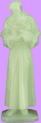 Glow in the Dark statue of St. Francis - measures almost 3 inches high.