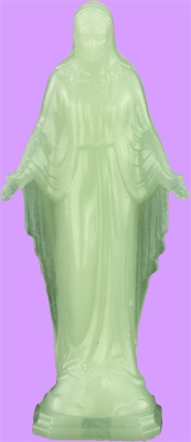 2.25 inch Our Lady Of Grace glowing statue