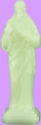 2.25 Inch Glow in the Dark Sacred Heart of Jesus statue