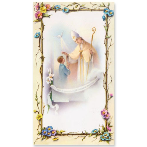 Value Priced Boy Paper Confirmation holy card