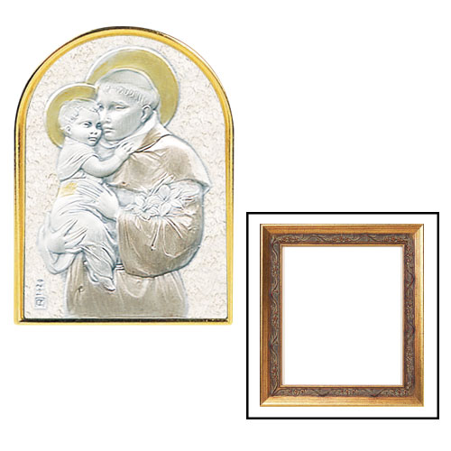 Framed St Anthony - sterling Silver