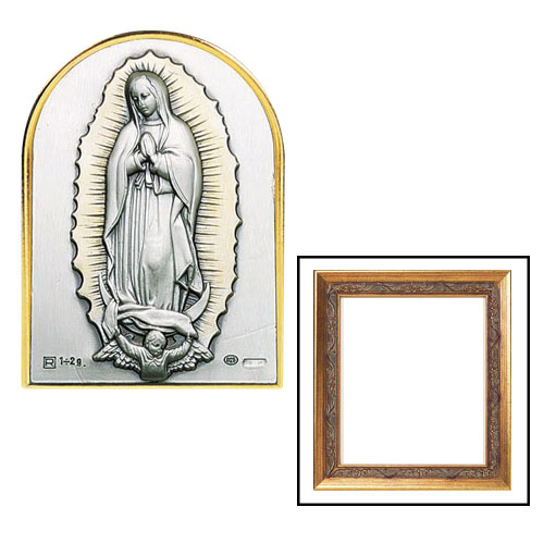 Our Lady of Guadalupe Sterling Silver Framed Image