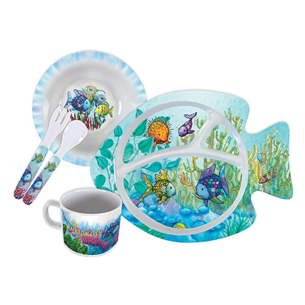 Rainbow Fish Melamine Set