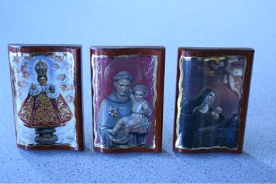 Beautiful Saints Images on wood