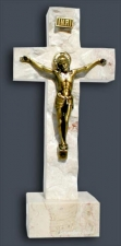 Large Bronze Stone Crucifix