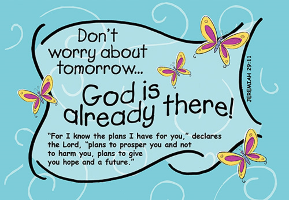Don't Worry About Tomorrow Bible Verse Card