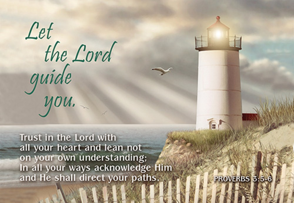 Pass It On: Let the Lord Guide You Bible Card