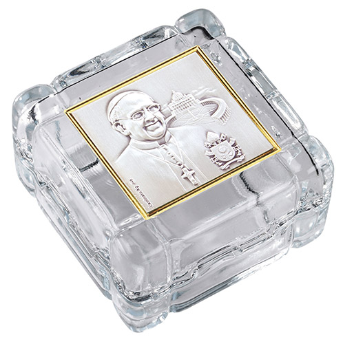 Pope Francis sterling silver rosary box