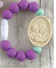 Purple and Mint Baby St. Therese Chewable bracelet