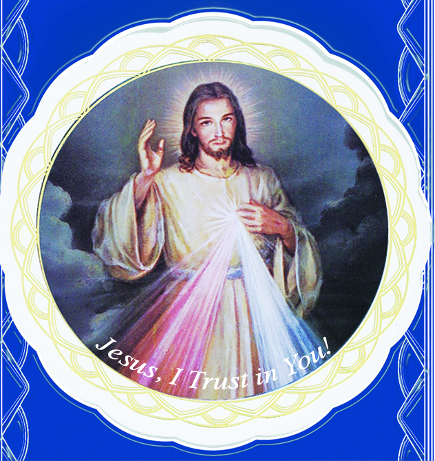 Divine Mercy Jesus Window Cling