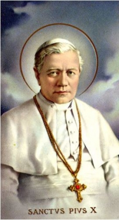 St. Pius X paper holy card