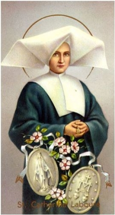 St. Catherine Laboure paper holy card