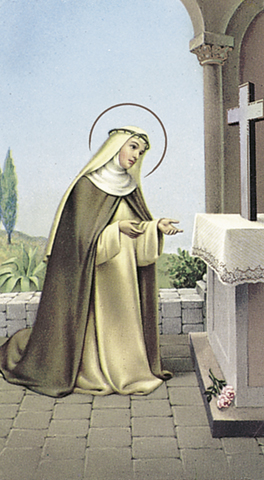 St. Rose of Lima Paper Holy Card